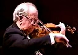 "Abram Shtern can be seen on YouTube playing Fritz Kreisler's ""Liebesleid"" accompanied by his granddaughter Valeria Morgovskaya, one of the most sought-after accompanists in town."